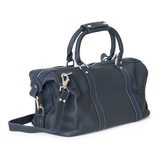 Small Leather Duffel Bag