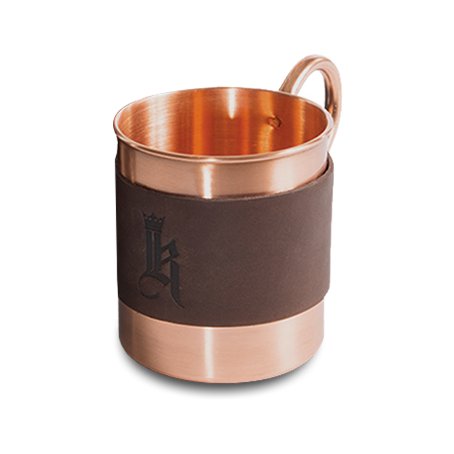 Sundance Leather Wrapped Single Copper Mug