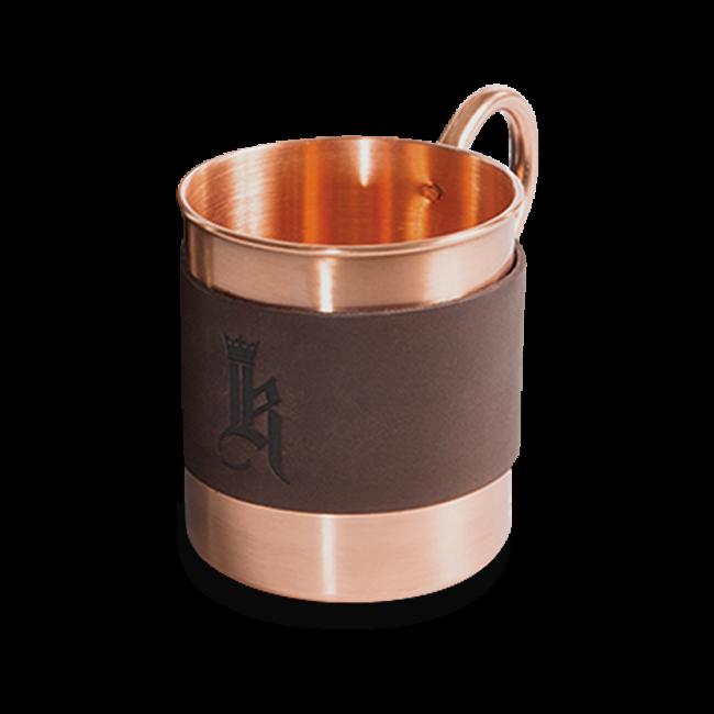 Sundance Leather Wrapped Single Copper Mug