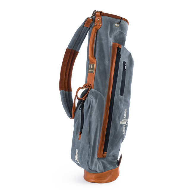 The Links Golf Bag: Waxed Canvas & Leather