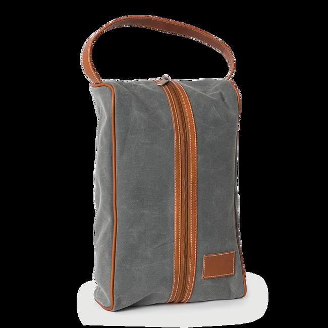 Waxed Canvas Shoe Bag